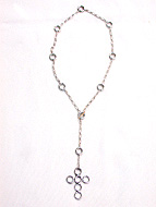 9 circle chain with lace cross